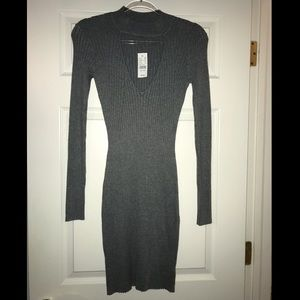 NWT Kendall & Kylie gray ribbed sweater dress